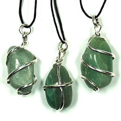 Green Aventurine Tumbles Wrapped