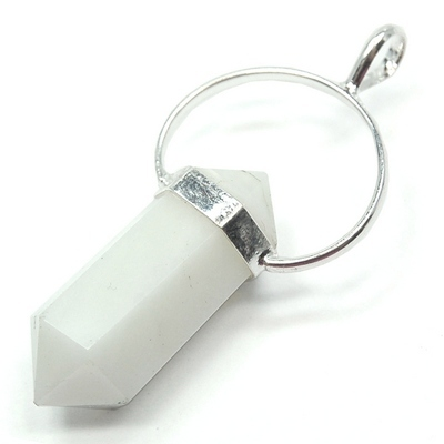 Pendants - White Aventurine 6-Sided DT Pendant (India)