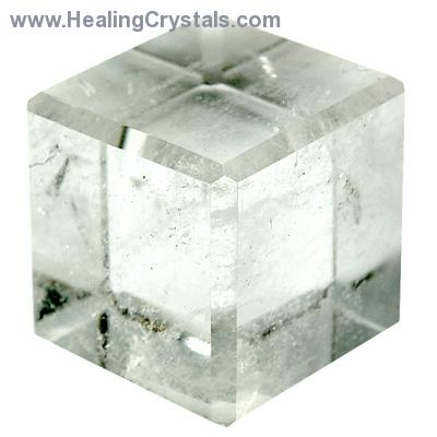 Cube - Clear Quartz Crystal Cube photo 3
