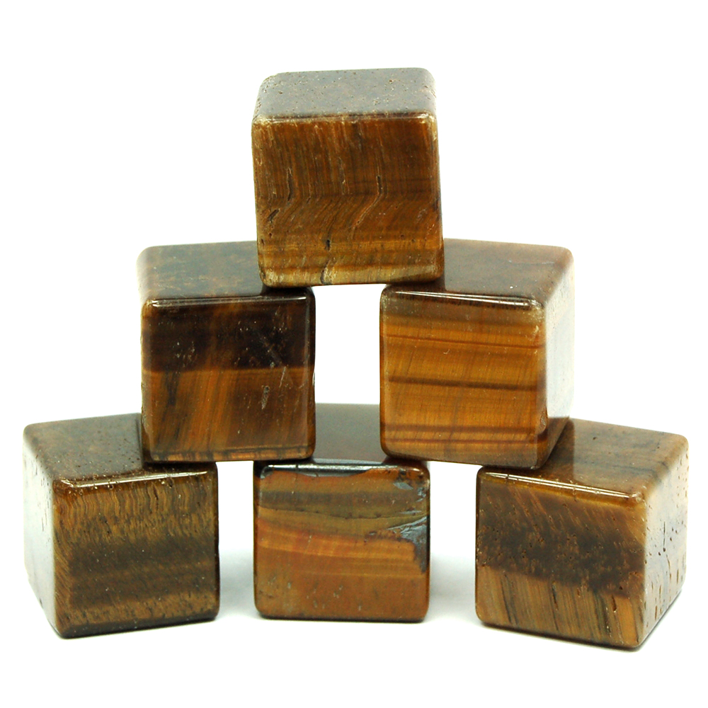 CLEARANCE - Cube - Golden Tiger Eye Cubes