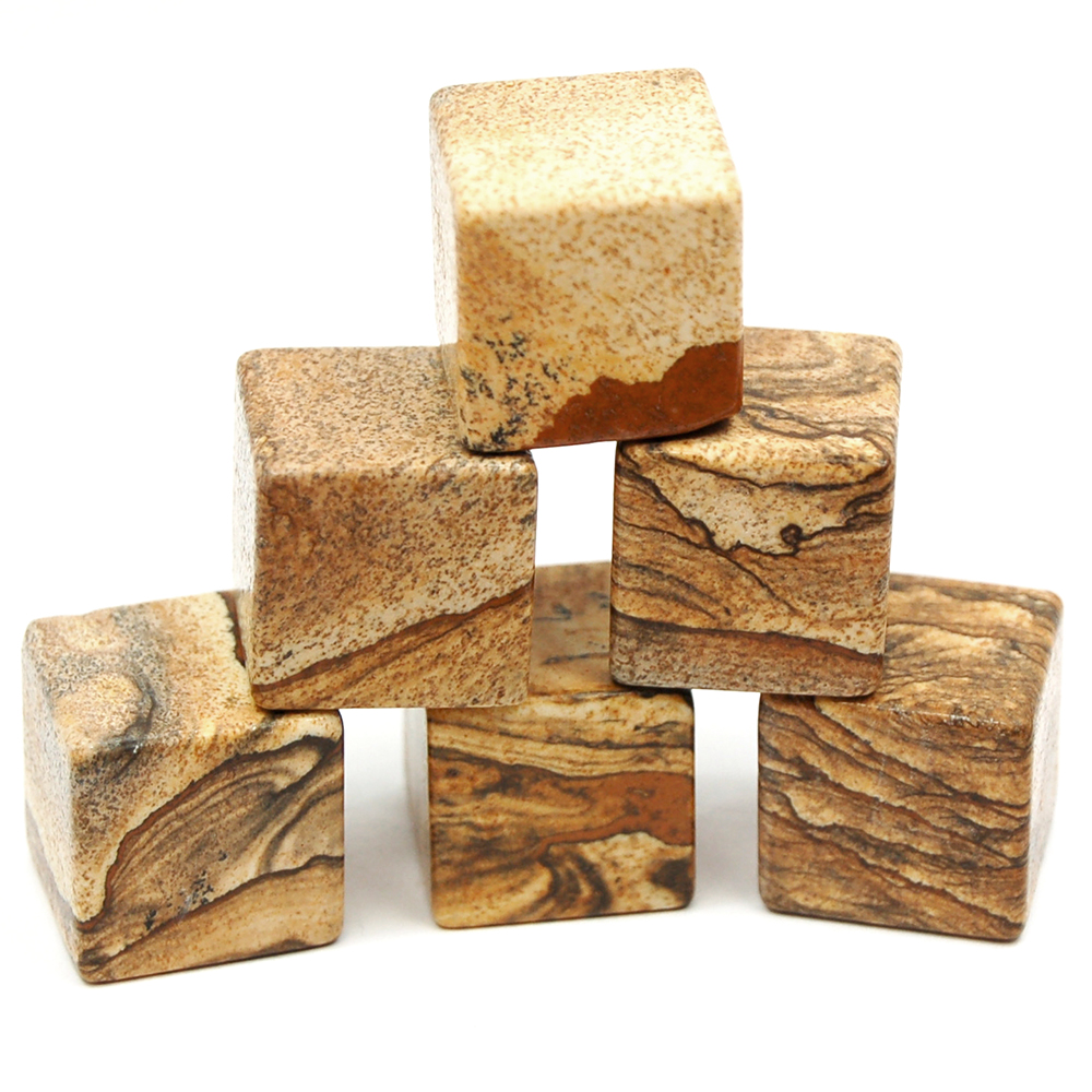Cube - Picture Jasper Cubes (China)