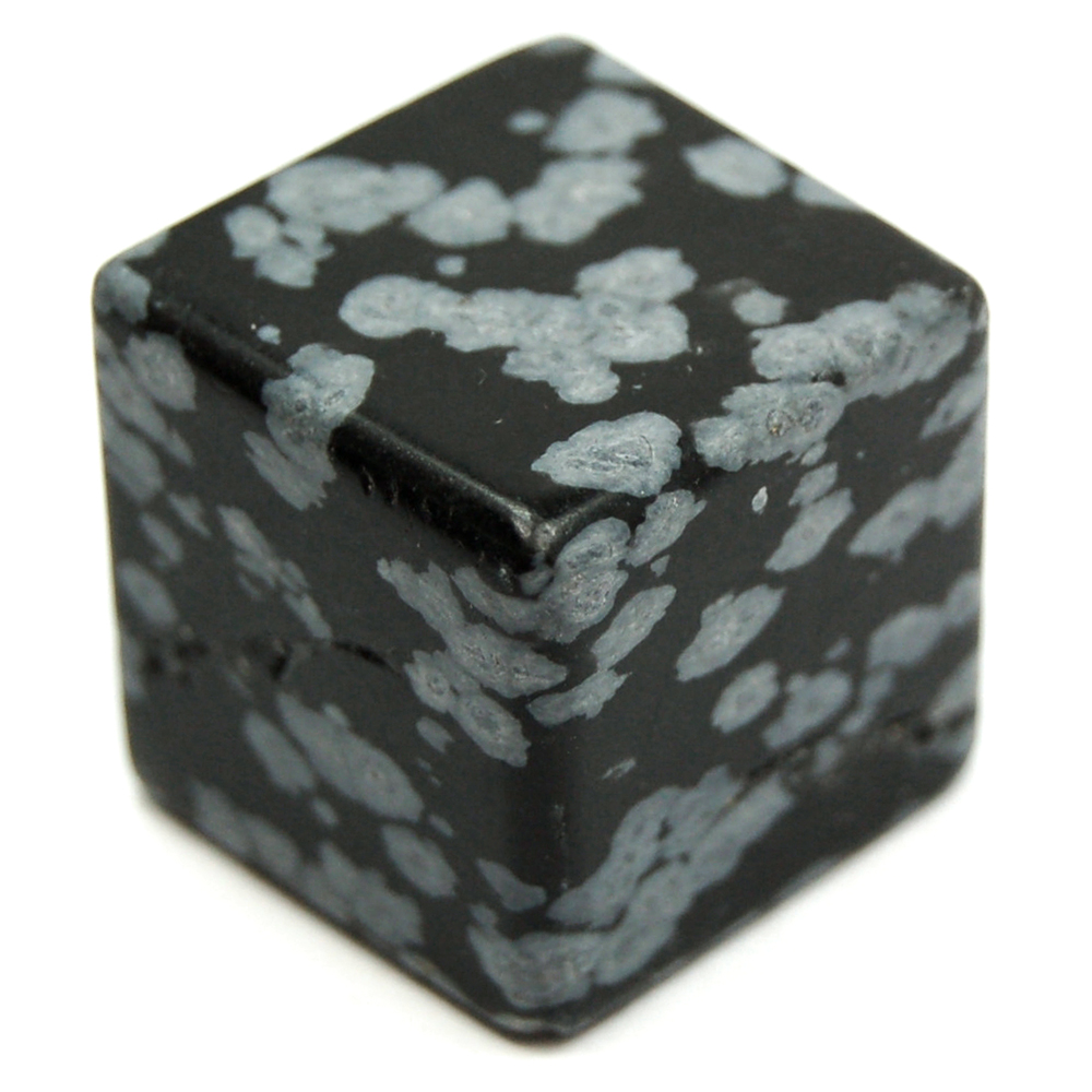 Cube - Snowflake Obsidian Cubes (China)