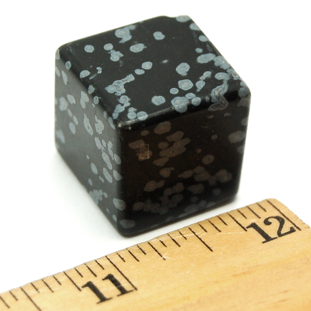 Discontinued - Snowflake Obsidian Cubes (China)