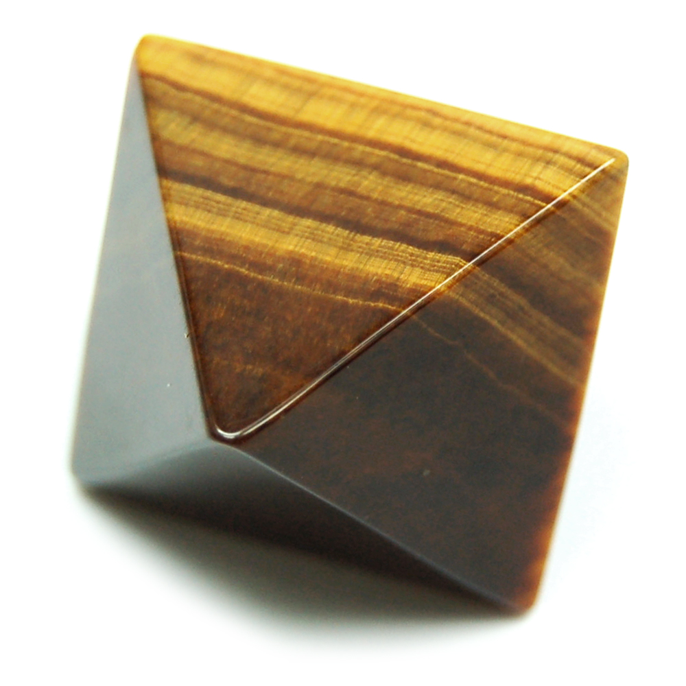 Discontinued - Octahedron Platonic Solid Tiger Eye