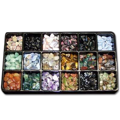 Display - Strong Plastic Trays for Tumbled Stones