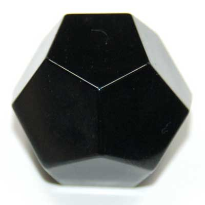 Discontinued - Black Onyx Dodecahedron (China)