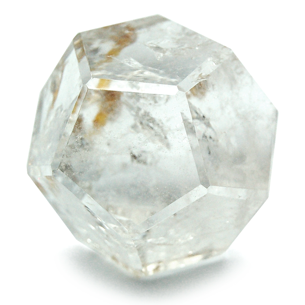 Dodecahedron Platonic Solid - Clear Quartz (Brazil)
