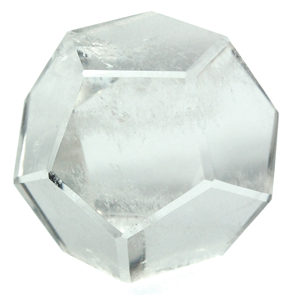 "Dodecahedron Platonic Solid Crystal - Clear Quartz ""Extra&q"