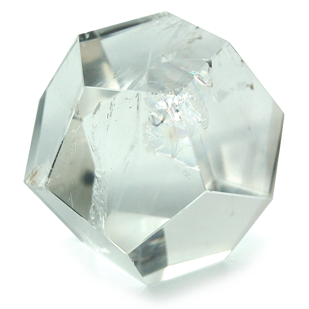 "Dodecahedron Platonic Solid - Clear Quartz ""Extra"" (Brazil)"