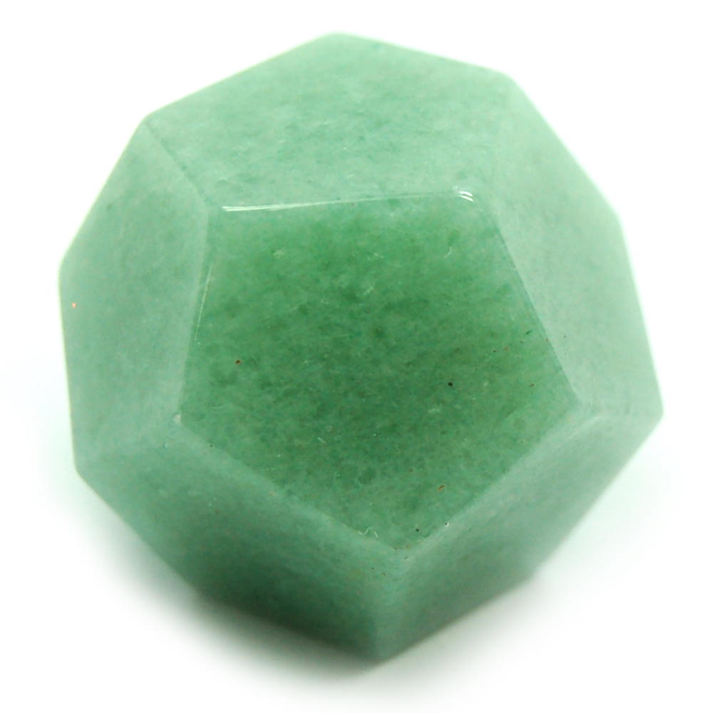Dodecahedron Platonic Solid - Green Aventurine (China)