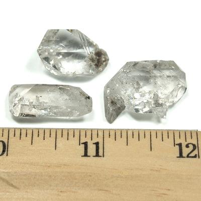 Diamond Quartz Healing Crystals. Handmade from Pakistan Double Terminated Diamond Quartz Crystal Necklace 8 - Crown Chakra Necklace