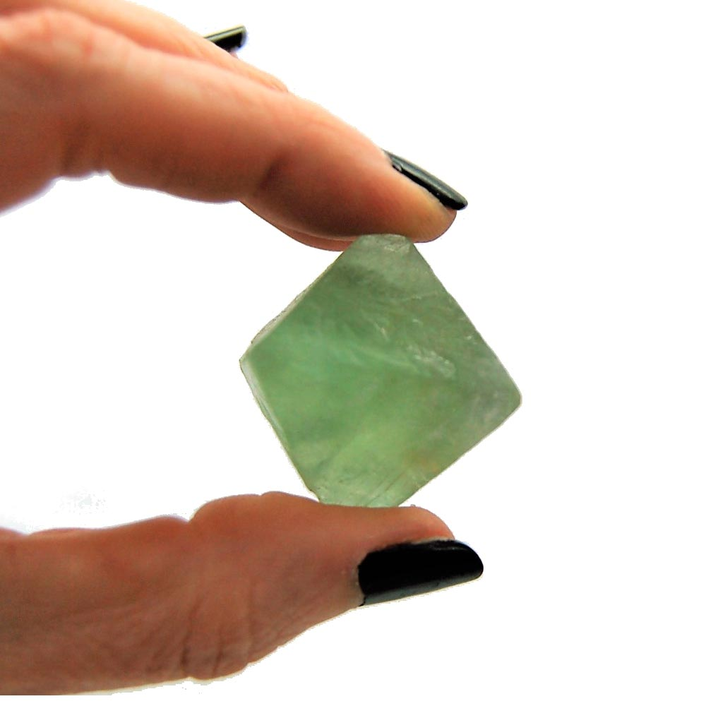 Natural Green Fluorite Octahedrons