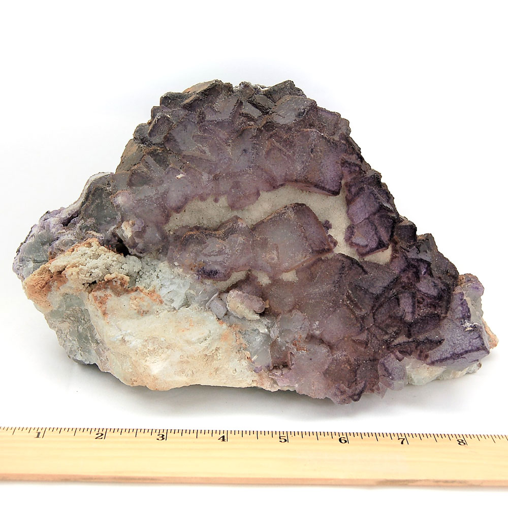 Natural Purple Fluorite Clusters