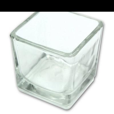 Discontinued - Glass Candle Holder - Square