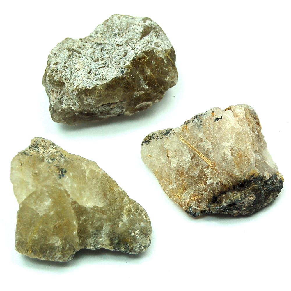 Golden Rutilated Quartz Chips/Chunks (Brazil)