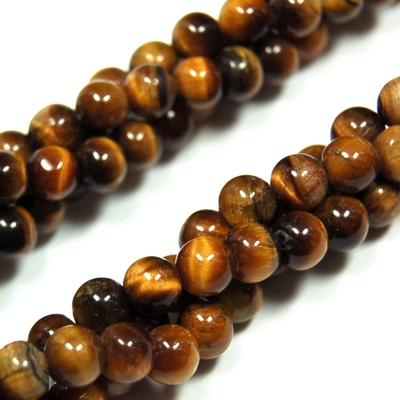 Necklaces - Golden Tiger Eye Twisted Rope Necklace (India)