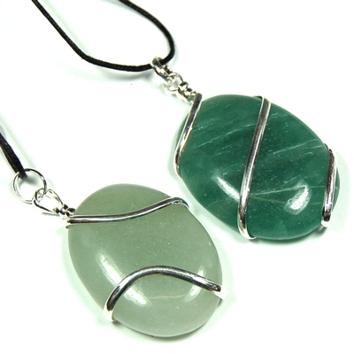Green Aventurine Wrapped Cabochons