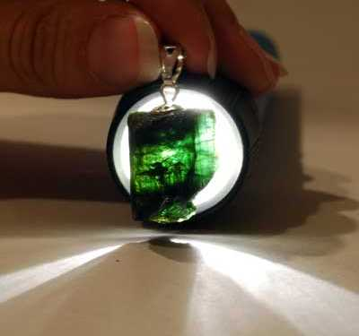 Crystal Pendants - Green Tourmaline Rod photo 8