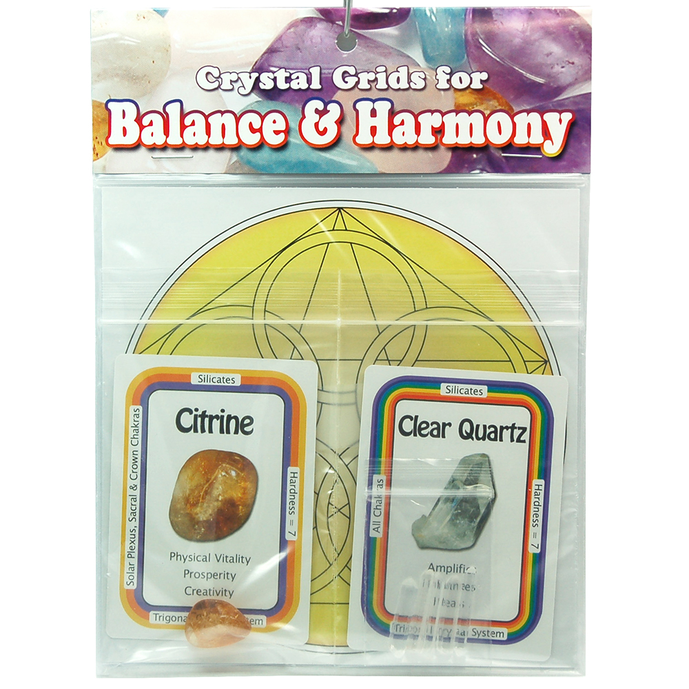 Crystal Grid Kit - Confidence Grid Kit w/Citrine (9pcs.)