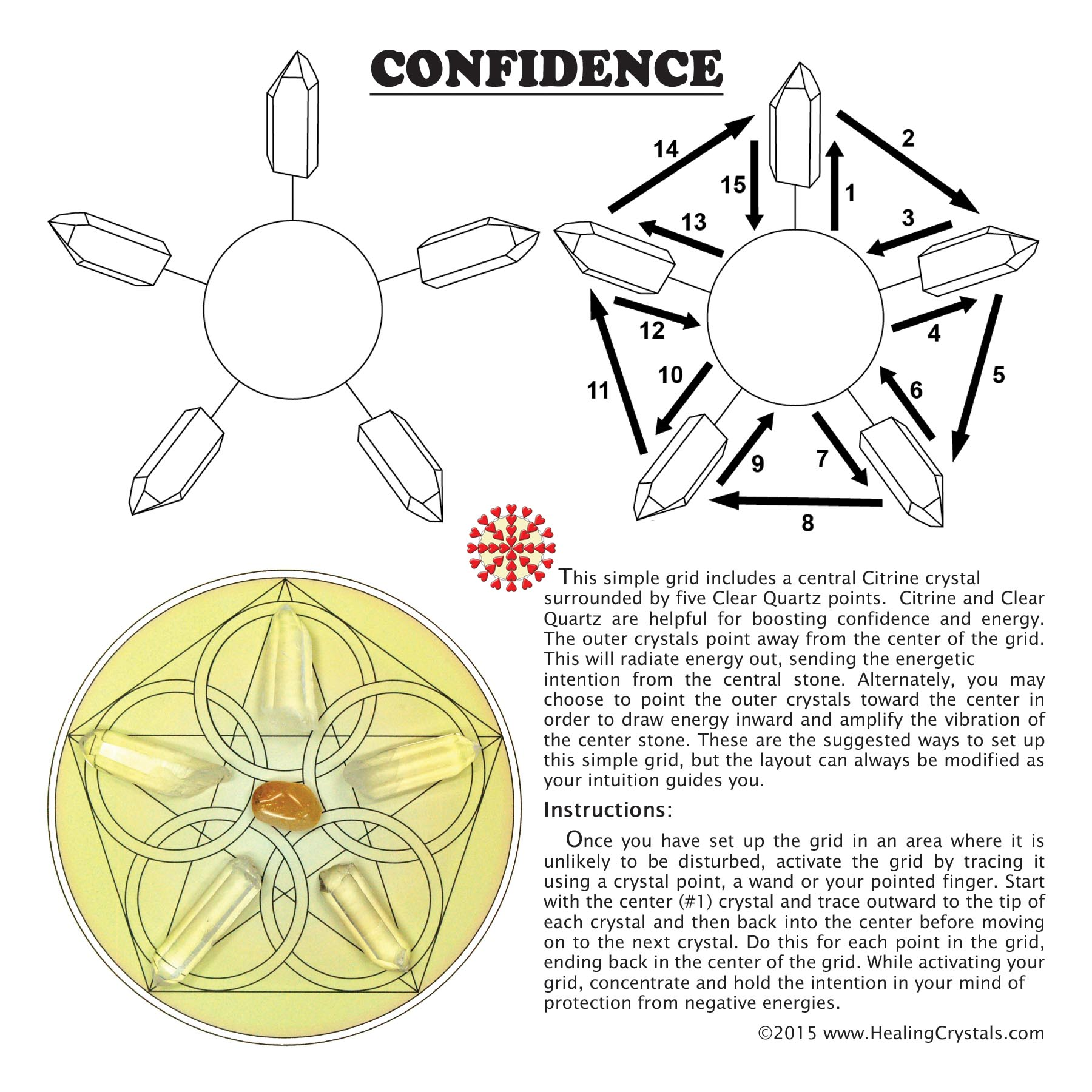 Crystal Grid Kit for Confidence
