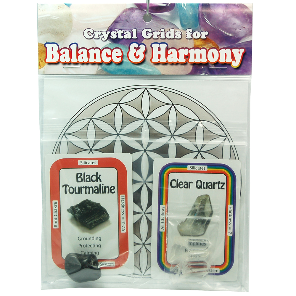 Crystal Grid Kit - Protection Grid w/Black Tourmaline (10pcs.)