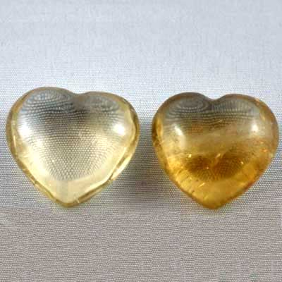 "Hearts - Citrine Heart ""Extra"" (Natural)"