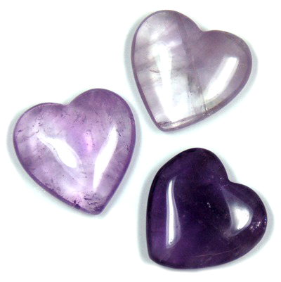 "Hearts - Amethyst Crystal Heart ""Extra"" Quality photo"