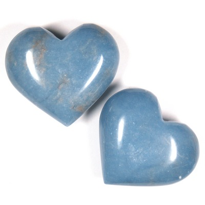 Hearts - Angelite Heart (Peru)