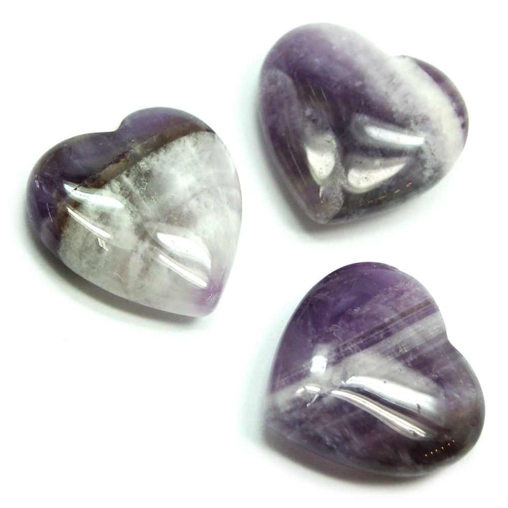 Hearts - Banded Amethyst Heart (China)