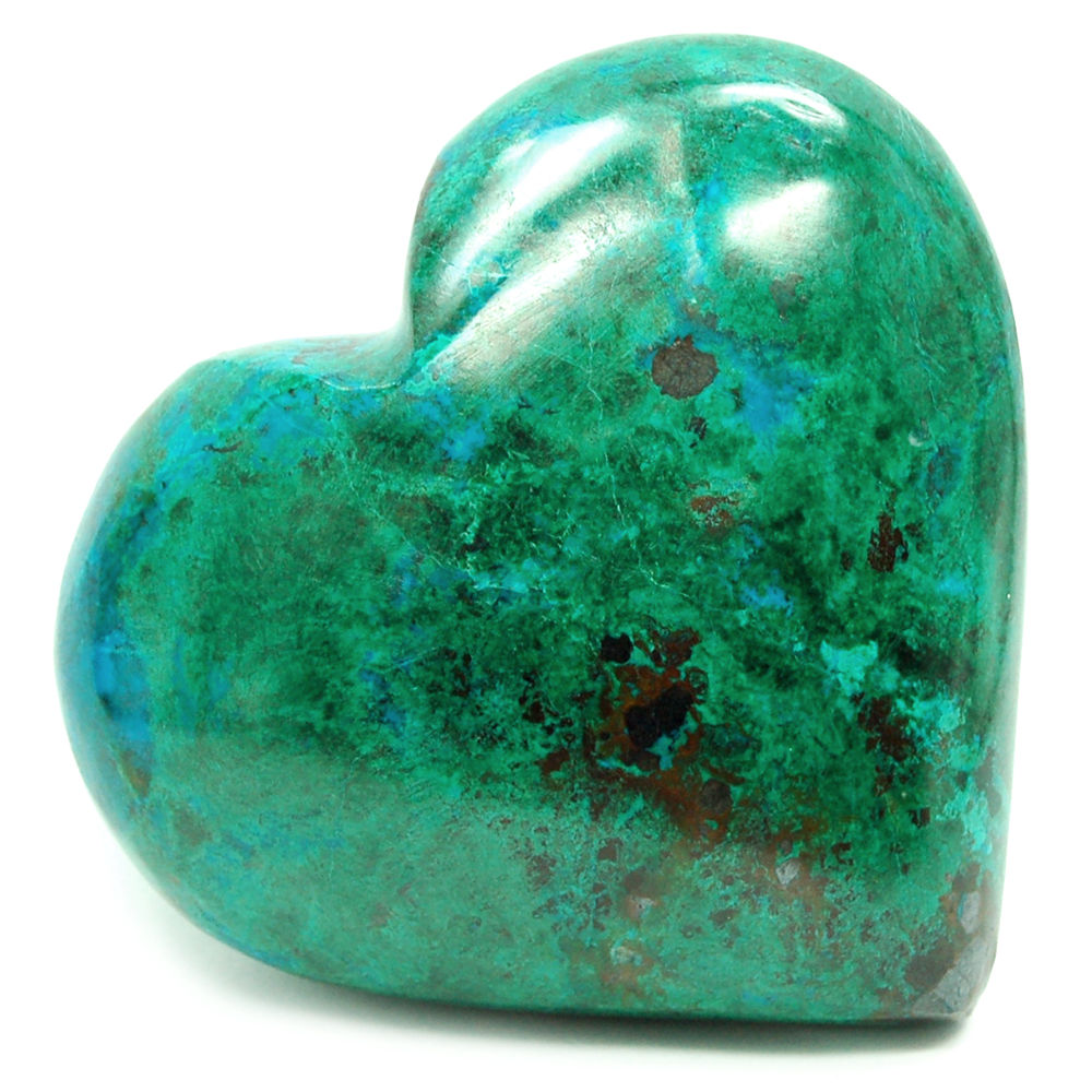 Hearts - Chrysocolla/Malachite Heart (Peru)