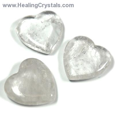 Hearts - Clear Quartz Heart (China)