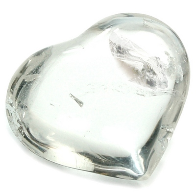 Hearts - Clear Quartz Heart (Brazil)