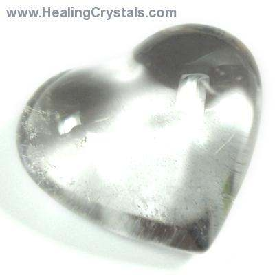 "Hearts - Clear Quartz Crystal Heart ""Extra"" photo 5"