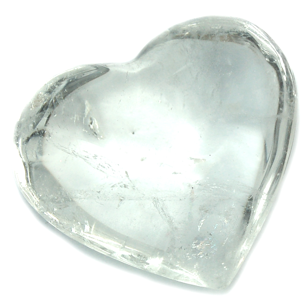 "Hearts - Clear Quartz Heart ""Extra"" (Brazil)"