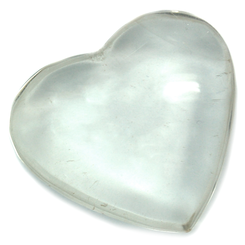 "Hearts - Clear Quartz Crystal Heart ""Extra"" photo 3"