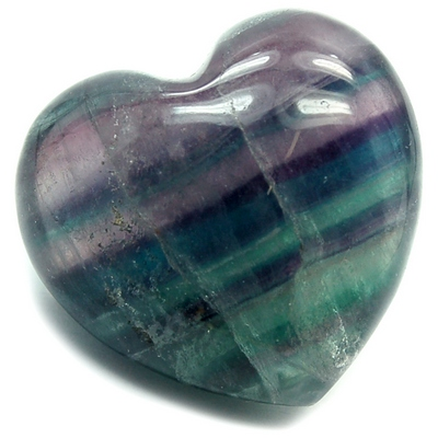 "Fluorite ""Fluorescent Puff"" Heart ""Extra"" (United States)"