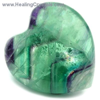 Hearts - Fluorite Crystal Puff Heart photo 3