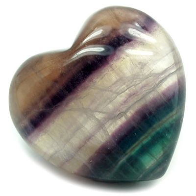 Hearts - Fluorite Crystal Puff Heart photo 8