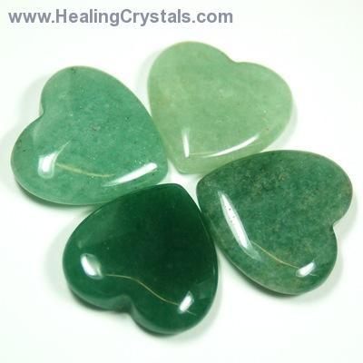Healing Crystals Green Aventurine Hearts