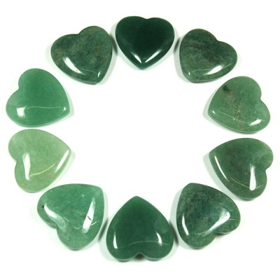 Hearts - Green Aventurine Crystal Heart photo 6