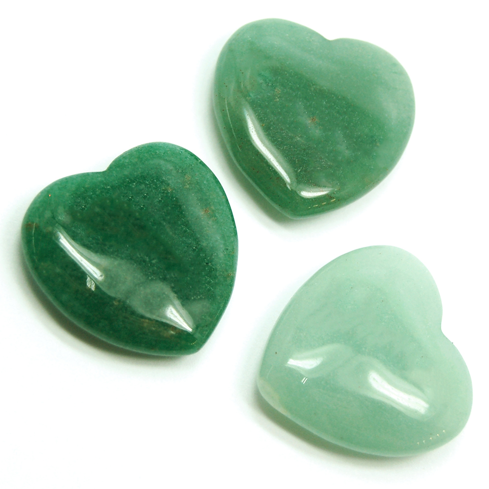 Hearts - Green Aventurine Crystal Heart photo 2