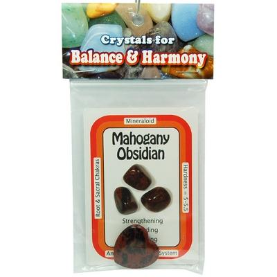 Mahogany Obsidian Heart with crystal card