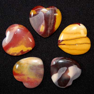 Hearts - Mookaite Jasper Heart photo 6