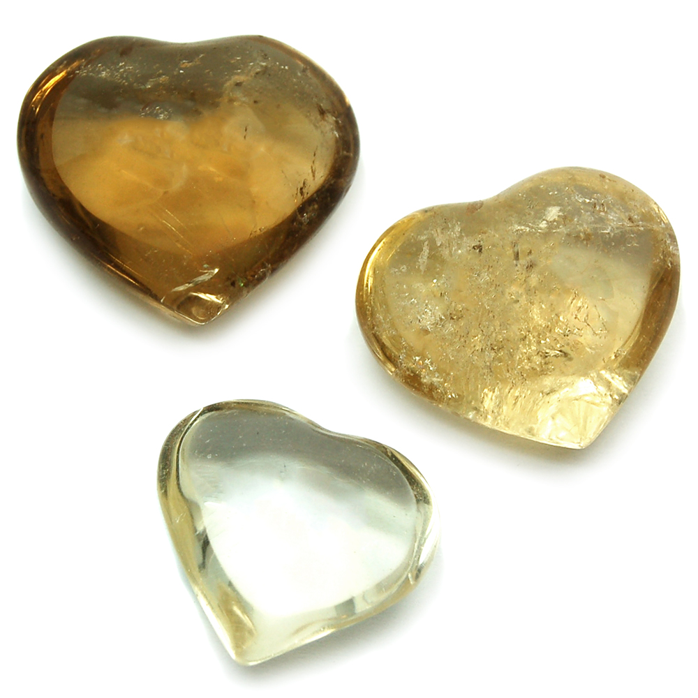 "Hearts - Natural Citrine Heart ""Extra"" (Brazil)"