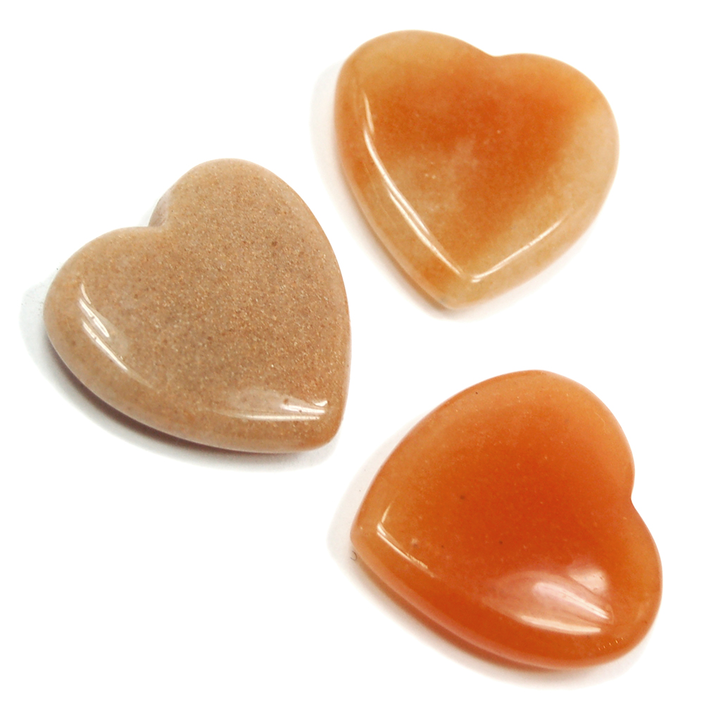 Hearts - Orange Aventurine Heart (China)