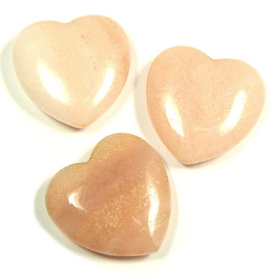 Hearts - Peach Quartz Heart (China)