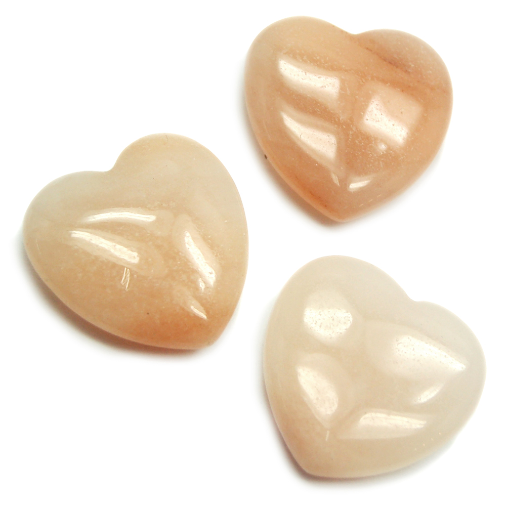 Hearts - Peach Quartz Heart