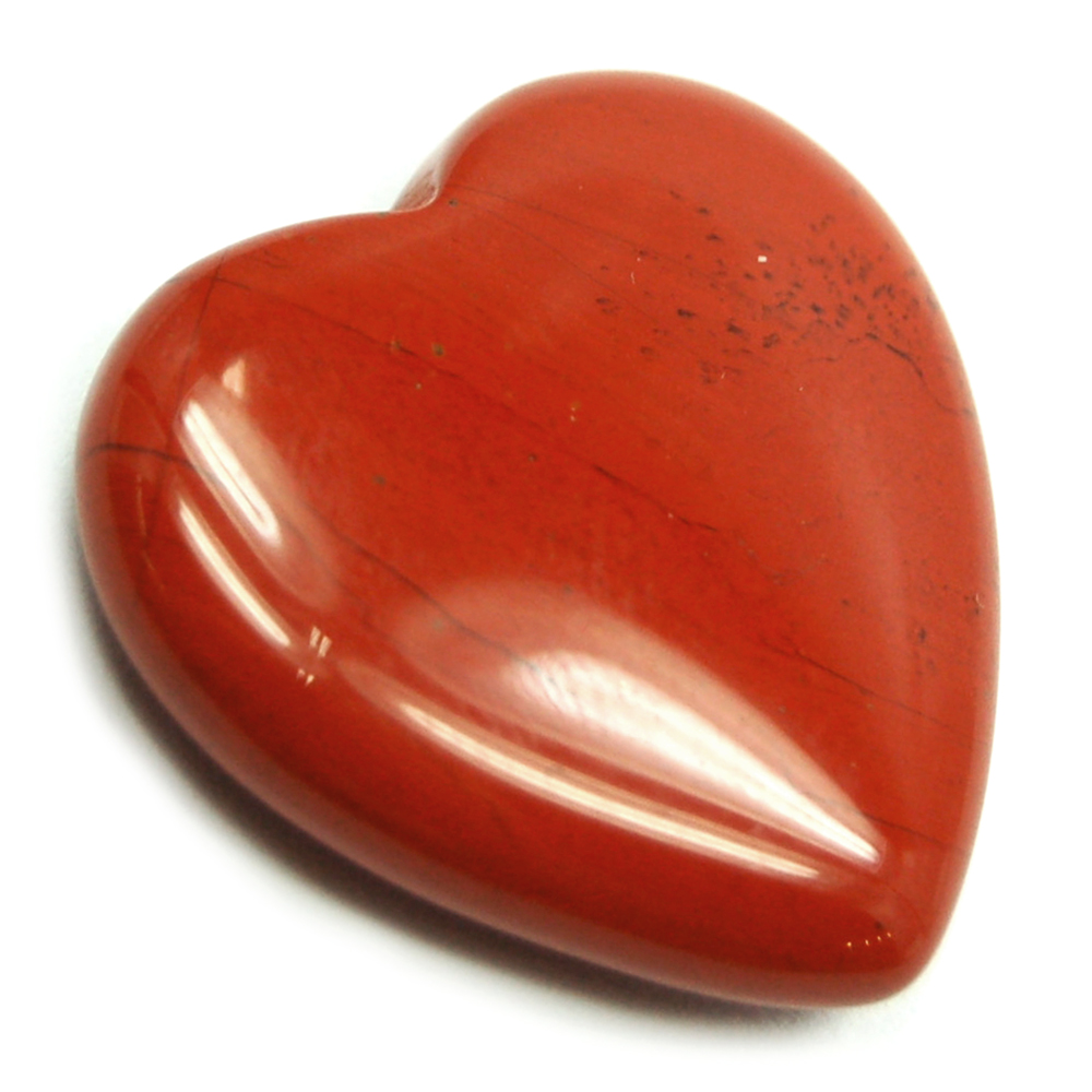 Hearts - Red Jasper Heart (China)