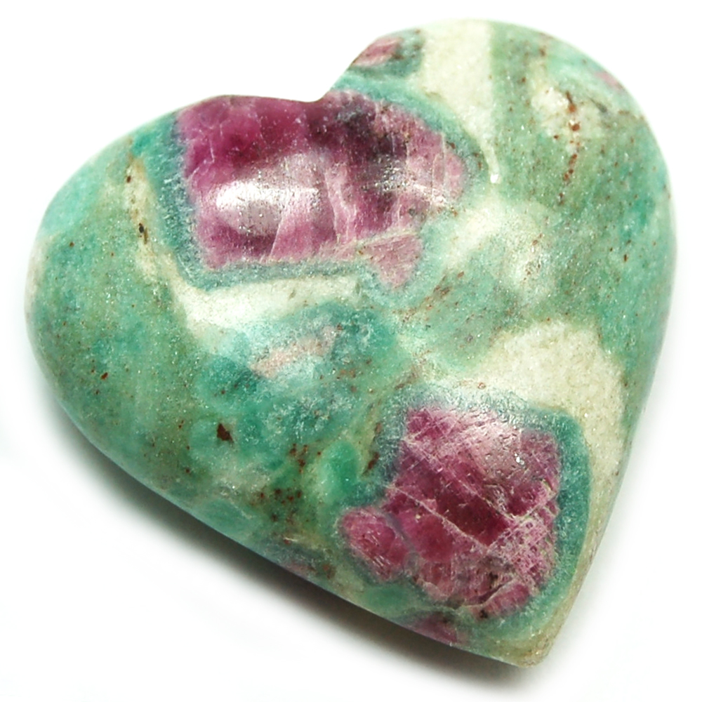 Hearts - Ruby In Fuchsite Heart (China)