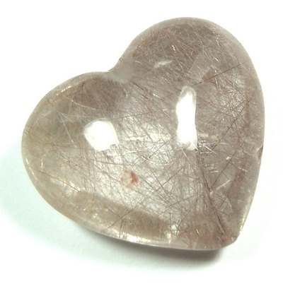 Hearts - Rutilated Quartz Heart (Brazil)